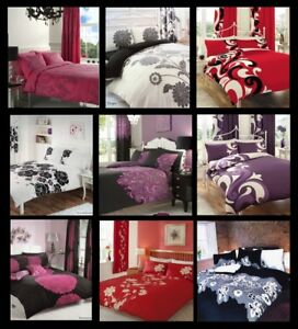 Luxury Duvet Cover With Pillowcase Quilt Cover Bedding Set Single Poly-Cotton