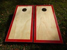 Regukation Red Border Hardcourt Cornhole Board Set W/ Bags