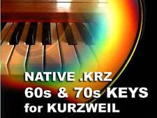 Kurzweil SUONI CD TASTIERE ANNI'60 70 S RHODES Organo cotta Wurlitzer pc3 k8 K7