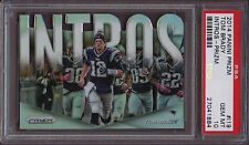 2014 Panini Prizm Intros I19 Tom Brady Prizm PSA 10 Gem Mint Pop 4