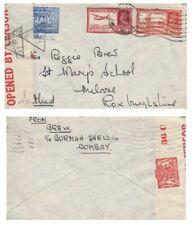 INDIA: GVI 1941 WW2 CENSORED Airmail cover BOMBAY to Scotland, UK