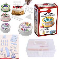 100 Piece DIY Cookies Muffin Cake Icing Decorating Making Cooking Kit US Stock