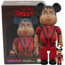 Medicom Be@rbrick Bearbrick Michael Jackson Thriller Red Jacket 100% & 400% Set