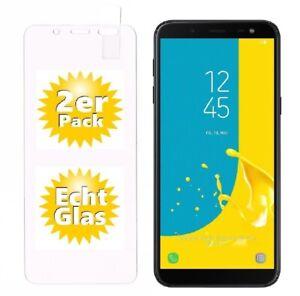 2x Samsung Galaxy J6 ( 2018 ) Schutzglas 9H Panzerfolie Echtglas Folie