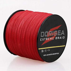 Dorisea 6lb~300lb Extreme Red Braided Fishing Line 100m 500m 300m 1000m 2000m