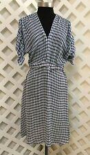 TUCKER * Fabulous silk summer dress, teardrop pattern * Sz M