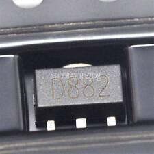 50PCS 2SD882 D882 3A/30V negativo positivo negativo SOT-89 SMD Transistor