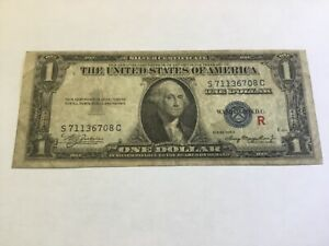 """1935 A $1 SILVER CERTIFICATE EXPERIMENTAL CURRENCY """"R"""" Note Bill ~NoRs ~306"""