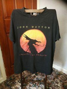 Vintage John Wetton Chasing The Dragon Tour T Shirt Large Uriah Heap 90s