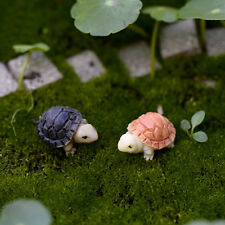 2pcs Miniature Dollhouse Bonsai Fairy Garden Landscape Diy Tortoise Decor Hi
