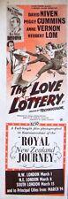 The LOVE LOTTERY Original 1954 Film Advert  - David Niven Movie Ad