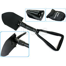 Army Military Folding Spade Shovel Pick Axe Camping Metal Detecting Mini Tool -A