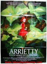 ARRIETTY Petit monde des Chapardeurs Affiche Cinéma / Movie Poster STUDIO GHIBLI