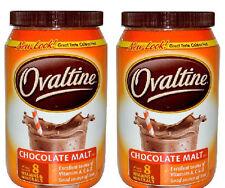 Ovaltine Beverage Drink Mix: Chocolate Malt (Pack of 2) 12 oz Jars