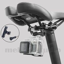 Mountain Bike Saddle 2-Rail Seat Mount Adapter Aluminum + Screw fr Gopro 2/3/3+4