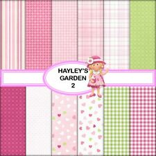 HAYLEY'S GARDEN 2 SCRAPBOOK PAPER - 12 x A4 pages + 2 CLIPART PAGES FREE