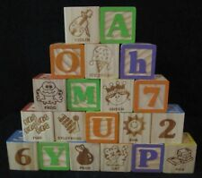 Wooden Alphabet Blocks Set of 20