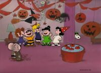 Peanuts-Violet's Halloween Party Limited Edition Cel Signed by Bill Melendez