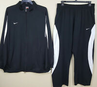 NIKE TEAM BASKETBALL TRACK SUIT JACKET + PANTS SET BLACK WHITE RARE (SIZE 3XL)