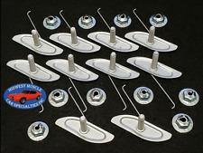 """Ford 3/4""""-1 5/8"""" Body Fender Door Quarter Trim Moulding Molding Clips Nuts 10p K"""