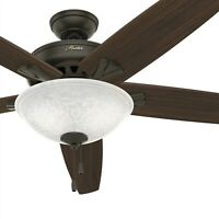Hunter Fan 70 inch Casual New Bronze Indoor Ceiling Fan with Light Kit