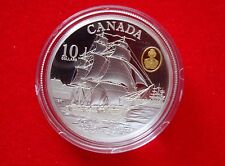 Canada 2012 $10 Coin HMS Shannon - The War of 1812  99.99% Silver Gold Plated