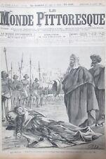 Le Monde Malerisches Nr. 120 von 1885 Afrika Manieren die Makouas Tod der Chef