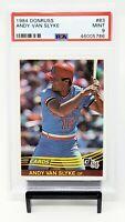 1984 Donruss St. Louis Cardinals ANDY VAN SLYKE Rookie Baseball Card PSA 9 MINT
