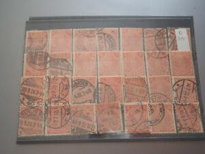 28 Stück Dienstmarken DR  1 Mark D 30 gestempelt