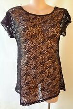 New Black top SUN ROSE size 22 NWT short sleeves