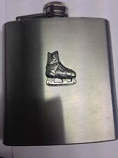 Ice Hockey Boot Sport PP-SP13 English Pewter 6oz Stainless Steel Hip Flask