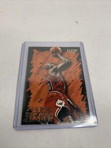 Michael Jordan 1996-97 Fleer Ultra HARDWOOD LEADER #123 Chicago Bulls NM 💵