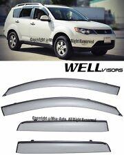 WellVisors Side Window Visors Guard W/ Black Trim For 07-13 Mitsubishi Outlander