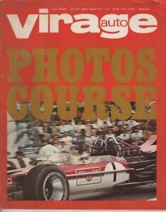 VIRAGE AUTO 1969 7-8 24H DU MANS INDY 500 FIAT 1300 BMW 2002 Ti 2500 2800 C