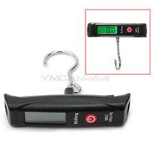 50kg/10g Electrónica LCD Báscula Balanza Digital con Gancho para Pesar Maletas