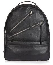 TOPSHOP 100% REAL  LEATHER  BENEDICT MULTI ZIP BACKPACK