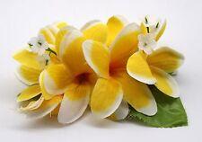 Hawaii Hair Clip Lei Party Luau Plumeria Flower Dance Beach Photo Yellow White E