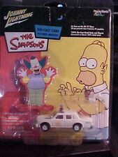 JOHNNY LIGHTNING THE SIMPSONS TV SHOW SPRINGFIELD POLICE CAR WHITE LIGHTNING