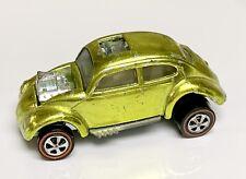 Hot Wheels Redline Mirror Lime Custom Volkswagen US Bug White Interior