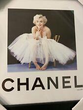 Fairchild Paris Chanel Marilyn Monroe Black Framed Art Print 12 x 12 New