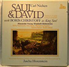 Saul & David Carl Nielsen Boris Christoff 3-LP Box Set NM Horenstein DanishRadio