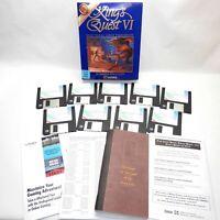 "KING'S QUEST 6 VI Big Box PC GameComplete Sierra MS-Dos 3.5"" HD VGA EGA Vintage"