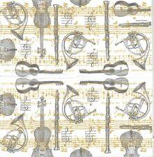 3 Mouchoirs en papier Musique Concerto Paper Hankies Music Serviette