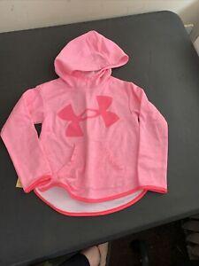 Under Armour Hoodie Toddler Youth Girls Size 5  Pink pullover Hoodie sweatshirt