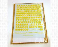 Virnex HO Decals Medium Yellow 3/8 Inches Bold Gothic Letter Set 2063 Alphabet