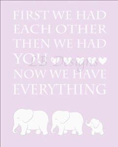 Purple Elephant Nursery Print, Girl Jungle Nursery Decor 8x10
