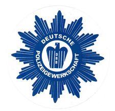 24 Polizei Aufkleber DPolG Stern Polizeigewerkschaft