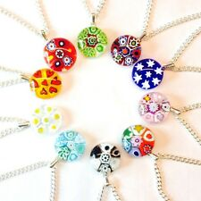 10 Hand-Made Murano Glass Millefiori Pendant Necklaces. Wholesale/Bulk Buy