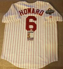 Ryan Howard Signed Majestic Authentic Phila. Phillies Home Jersey w/2008,W.S....