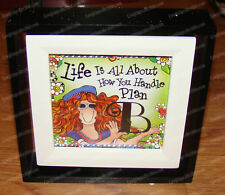 Life is all about Plan B Spin Frame (Suzy Toronto by Enesco, 4045922) 4x4 photo